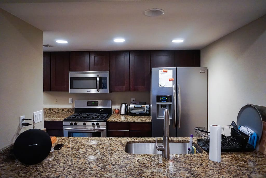 Open living space and top notch kitchen