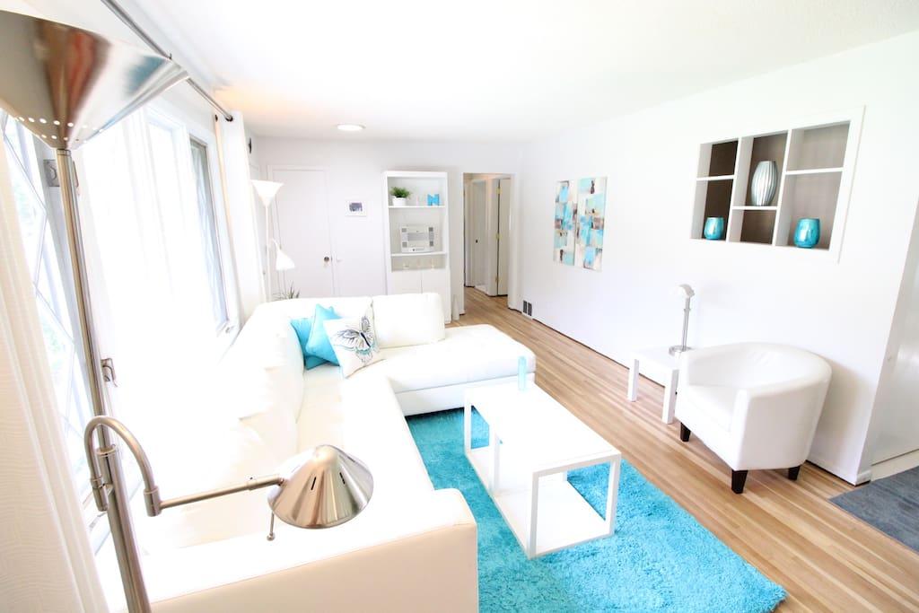 Living Room - with new hardwood floors
