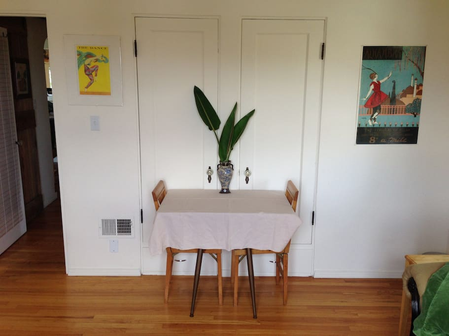 Sitting rm/Bedrm 2  table w/ 2 chairs (more on request)