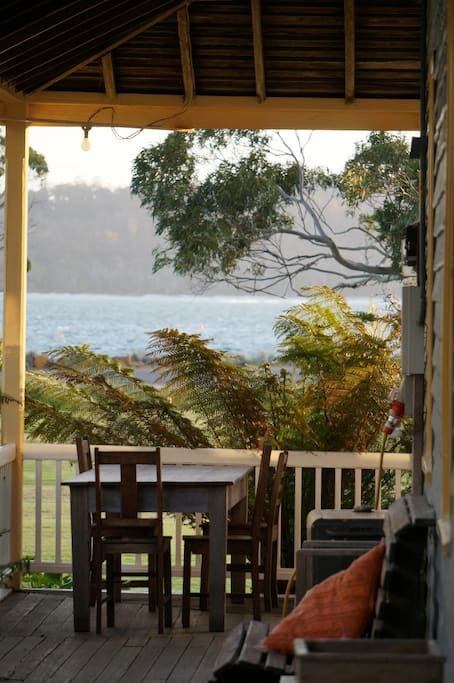 Looking out to sea from the veranda