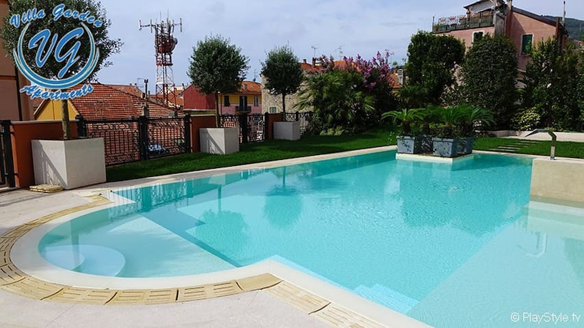 New and elegant apt near the sea with private pool - Finale Ligure - Apartment
