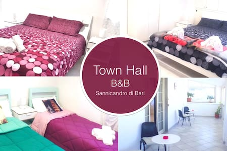 Town Hall B&B: 3 double bedrooms with 2 bathrooms - Sannicandro di Bari