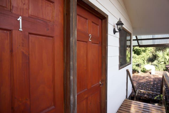 Entrance to cabina  1 & 2