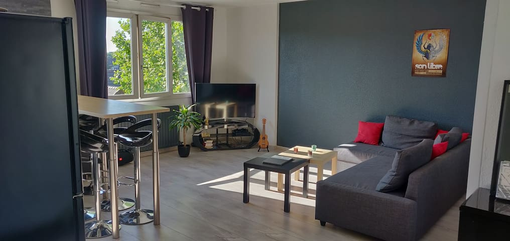 Bel appartement de 50m2 - 35 minutes de Paris.