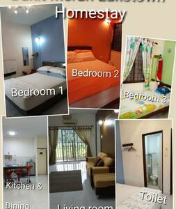 A Homestay facing the hill in Bukit Merah Laketown