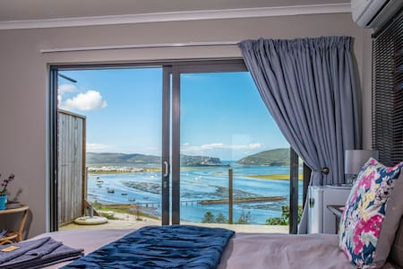 Your view as you lie in bed. Overlooking the whole of Knysna!