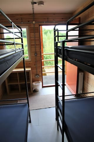 Small Lodge room with 2 bunk beds