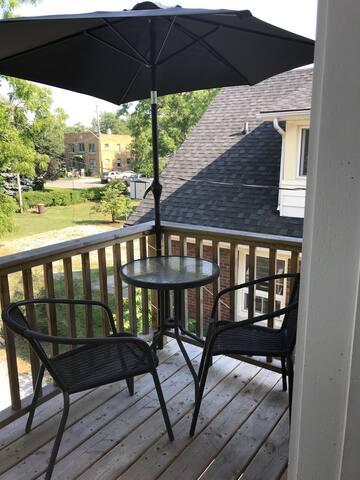 Cozy patio area