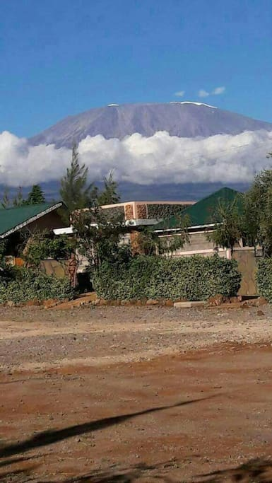 Mt.kilimanjaro is well seen each and every time.