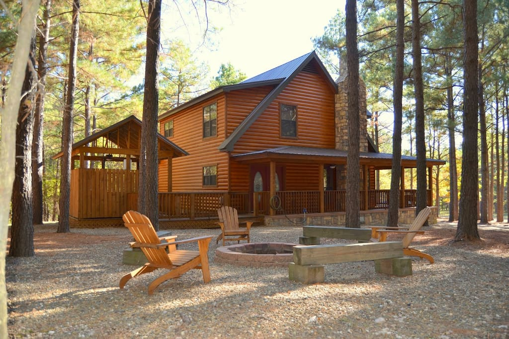 Secluded side yard w/ fire ring and seating.  Fire Wood Provided Oct - March
