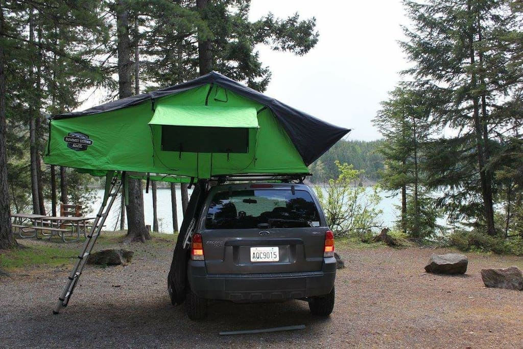 This photo was taken when the SUV was rented through our website and taken camping up,at Snoqualmie Pass.