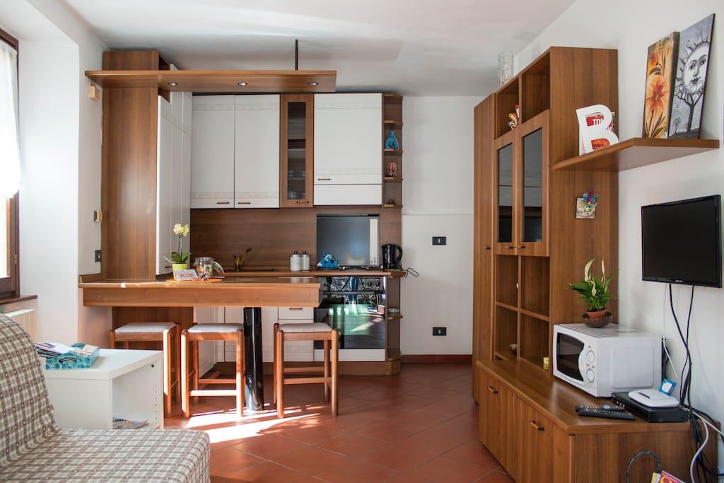 Open spice Cucina/Soggiorno