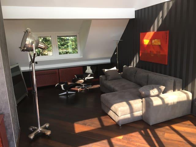 Luxury loft, sauna, loggia, Fair Essen/Düsseldorf - Essen - Apartemen