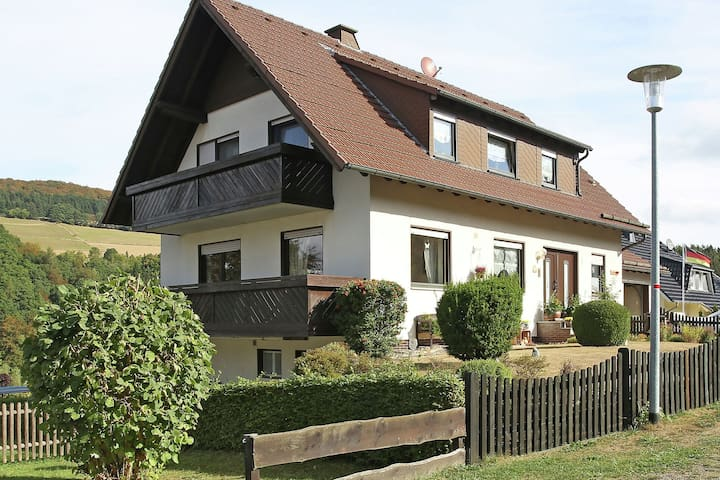 Very nicely situated apartment with terrace and view of the Diemelsee