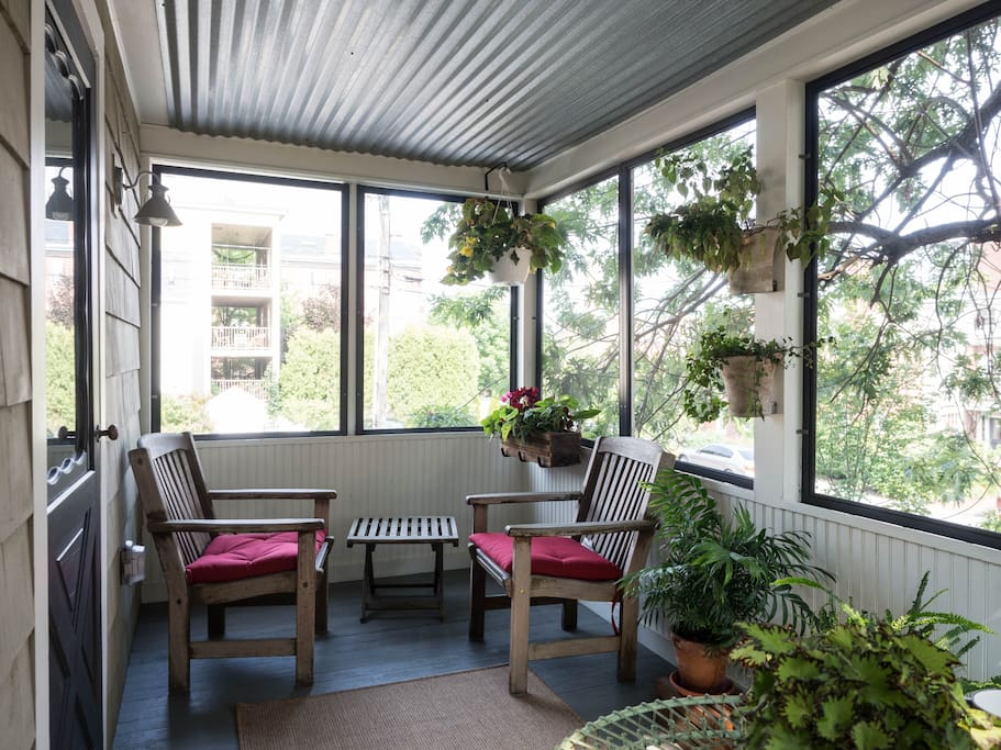 Wake up with a cup of coffee or relax with a glass of wine on the porch!