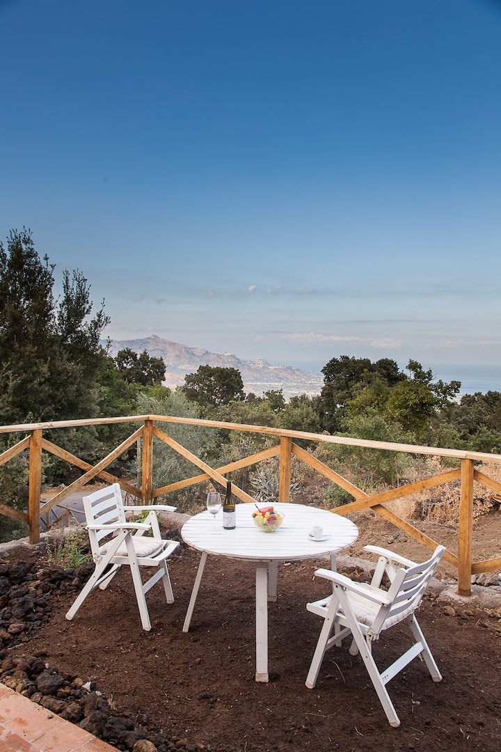 A room with a view, Etna,Sea & Taormina