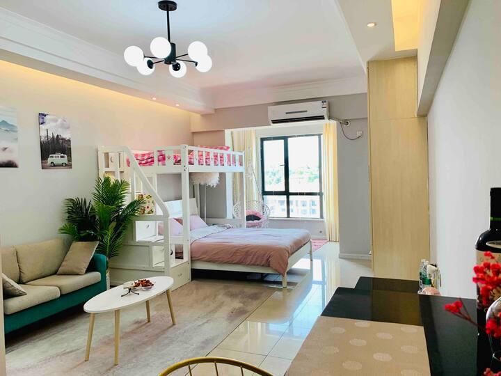 金桂大道时代家居一室温馨房「未见」 适合一家三口,闺蜜聚会,旅游歇脚,可做饭