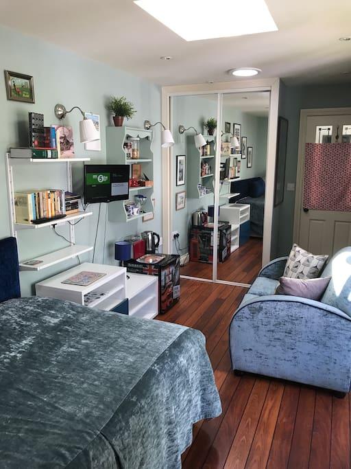 TV, DVD, Fridge,Wardrobe,coffee and tea making facilities