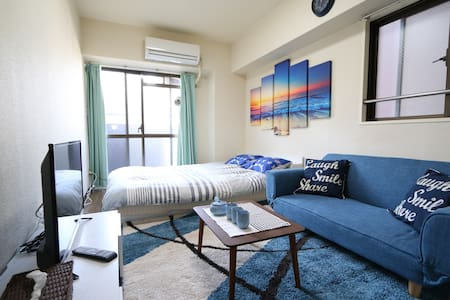 ☆Coastal themed & Comfy☆#7mins from station - Chuo Ward, Osaka - Byt