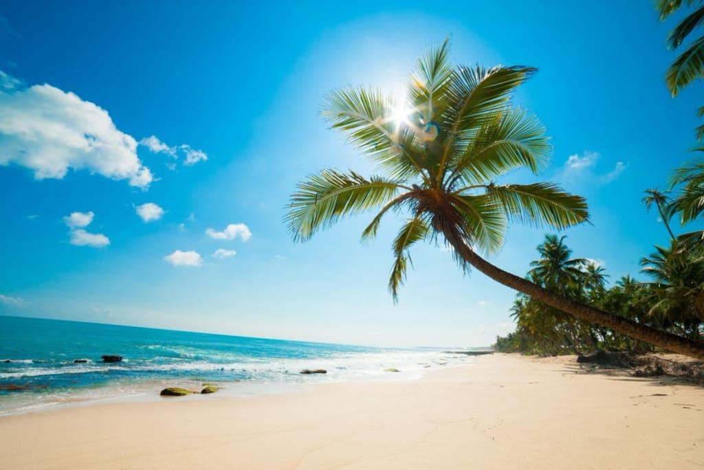 Beach just 5 min walk nearby