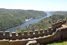 Vista do Castelo de Belver/View from the Belver castle with Alamal river beach far away