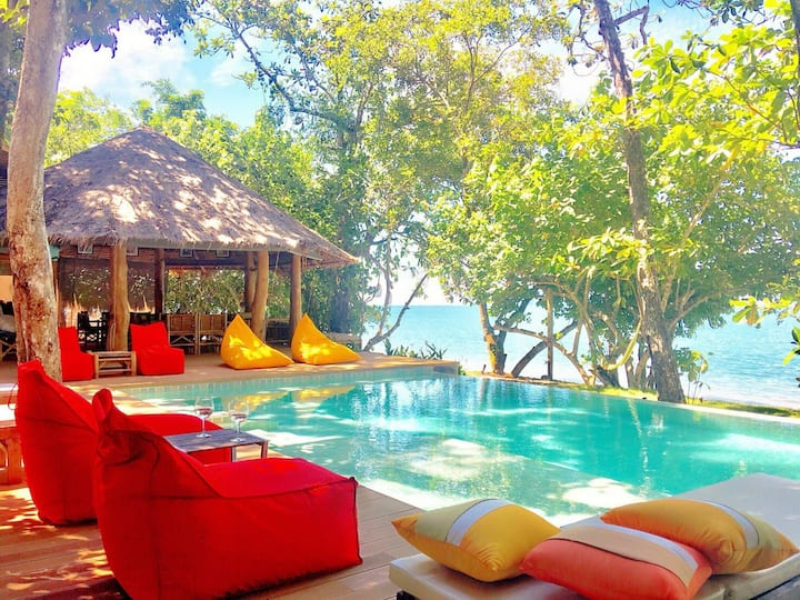 BEACH FRONT PARADISE, AMANTARA Private Villa 4BR