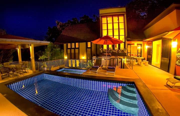4 Bed Villa near Lamai-Pool, Jacuzzi, FREE CAR