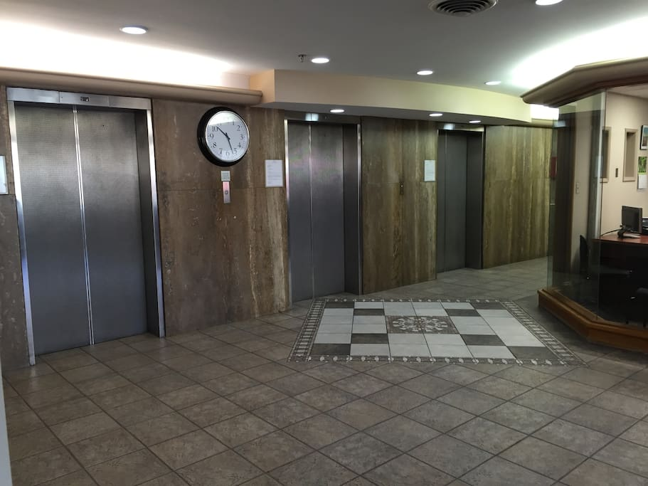Front Lobby Elevators