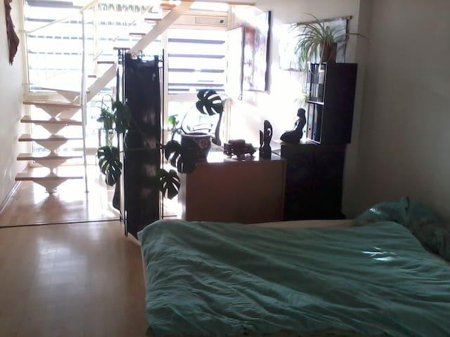 Stor og meget lys lejl. på 5 sal. Panorama view. - Odense - Apartment