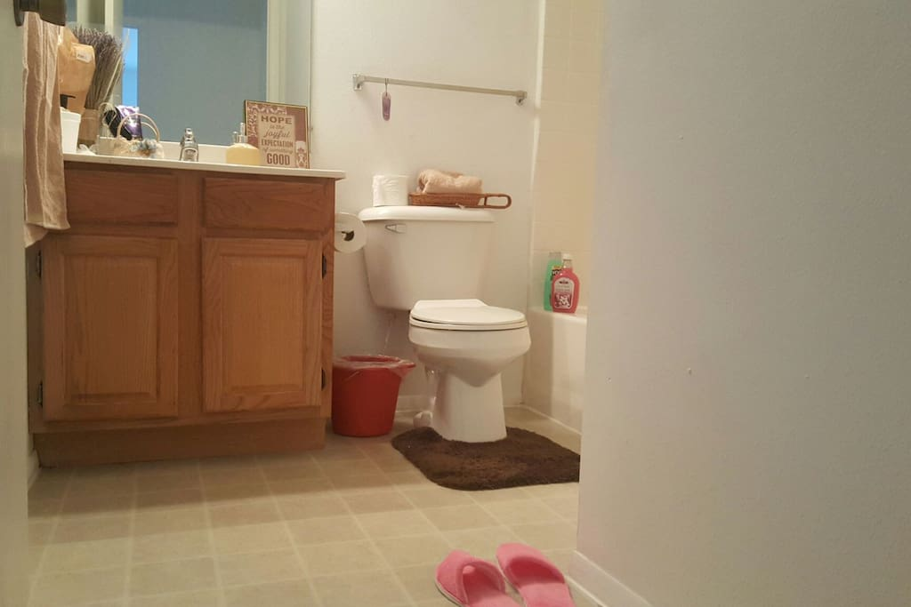 private bathroom for guests