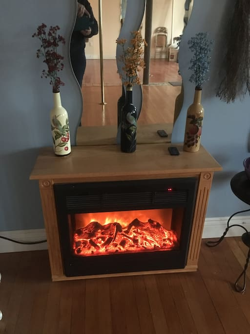 Fireplace for winter and fans for summer