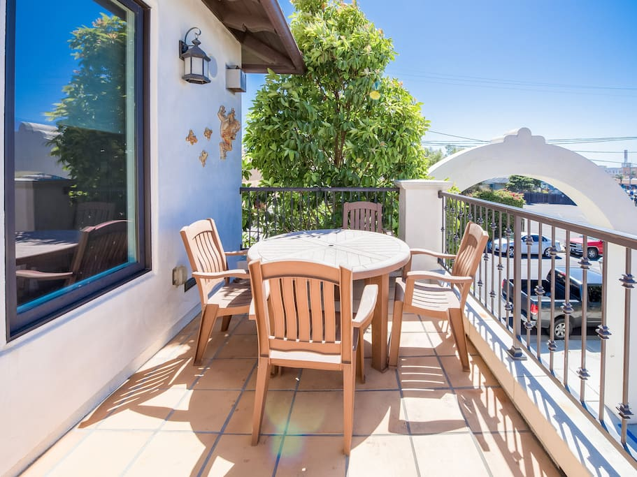 Dine al fresco on your private patio with seating for 4.