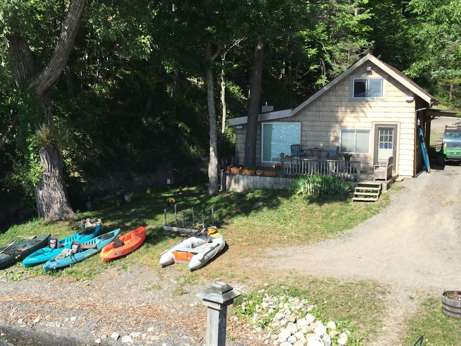 Cottage with kayaks