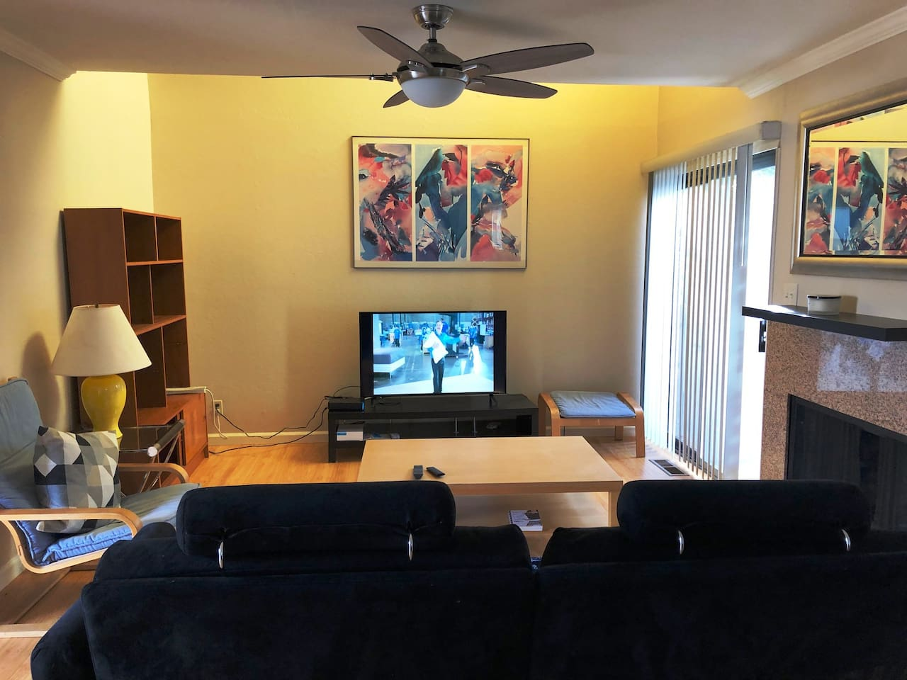 Living room with large Flat Screen TV