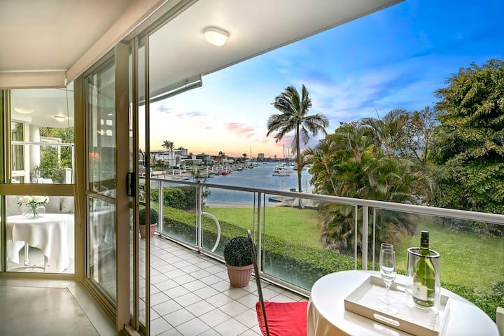 Serenity at Mooloolaba waterfront, 3 BR apartment.