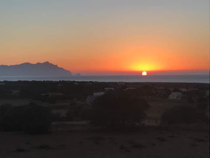 Il tramonto a Villa Mariuccia