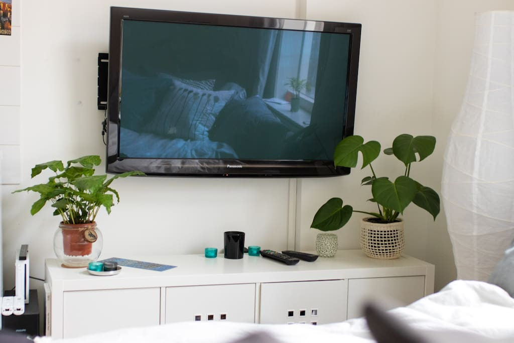 Tv with Chromecast and Wii console