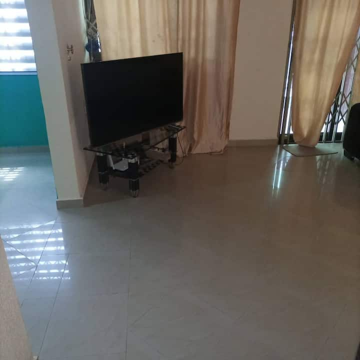 Room for short term rental in a secured house.