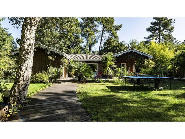 Villa Bois à Taussat au Cœur du Bassin d'Arcachon