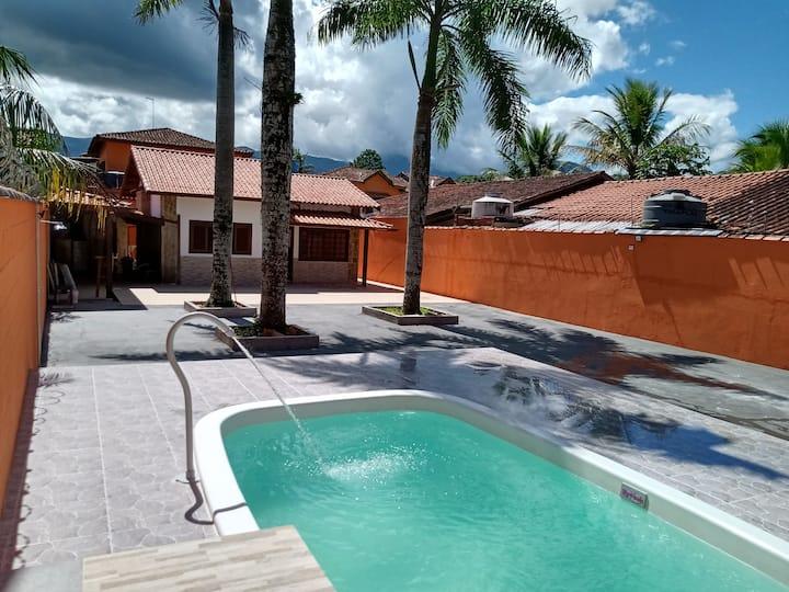 Casa das Palmeiras c/ Wi-fi - Praia de Boracéia