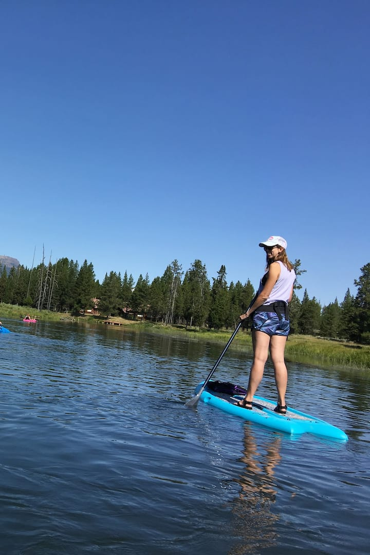 We have two paddle boards available!