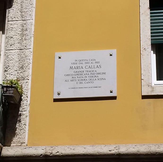 Maria Callas targa in memoria