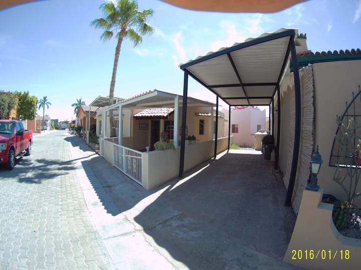 Great cottage one block from beach with pool-122 T