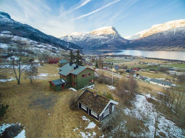 Panorama utsikt i Vang i Valdres