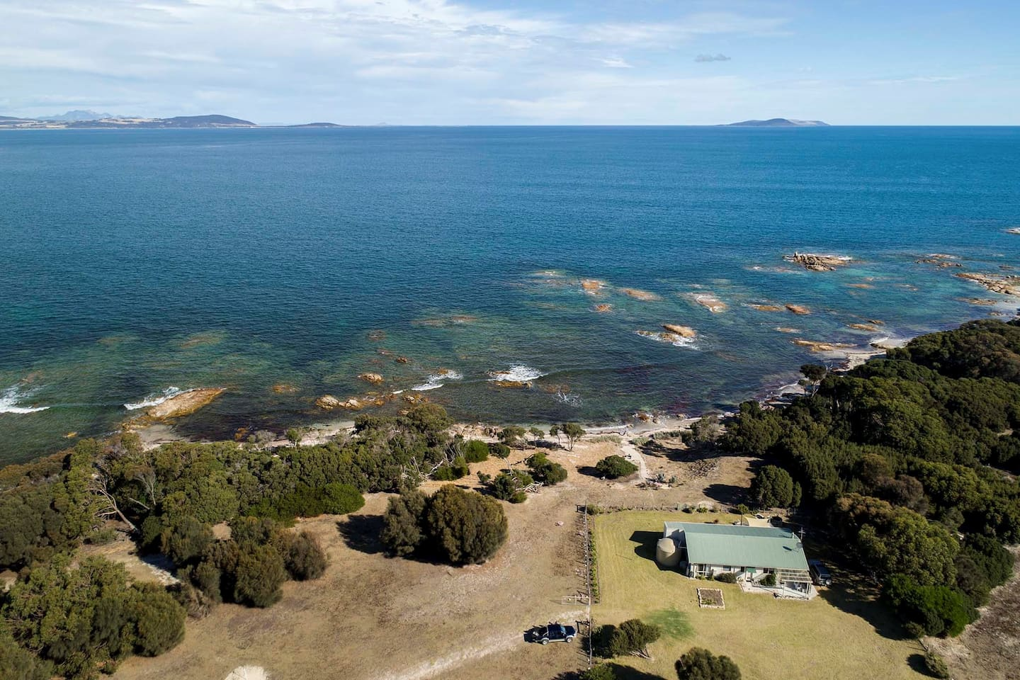 The AB FARM on pristine waters of Marshall Bay