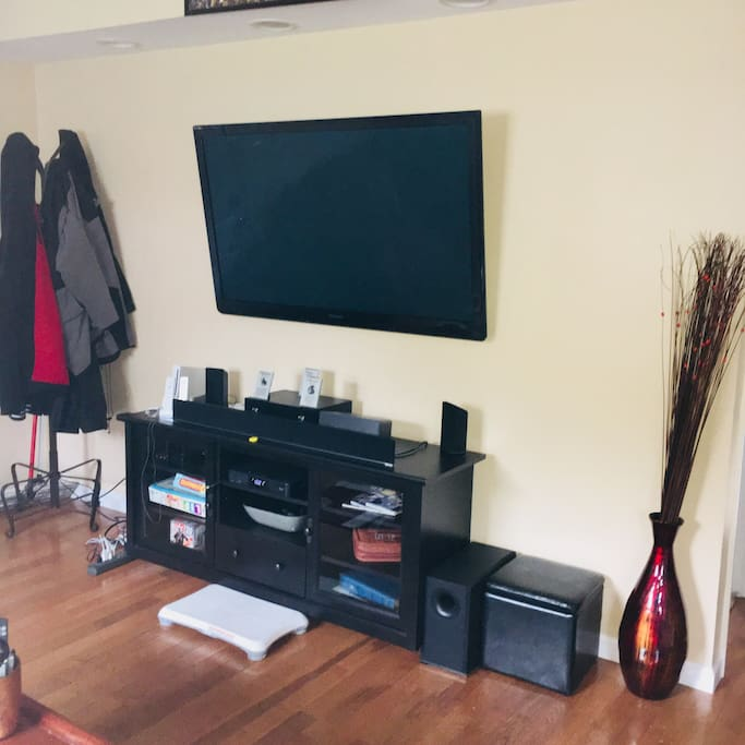 Living Room TV and Entertainment Center