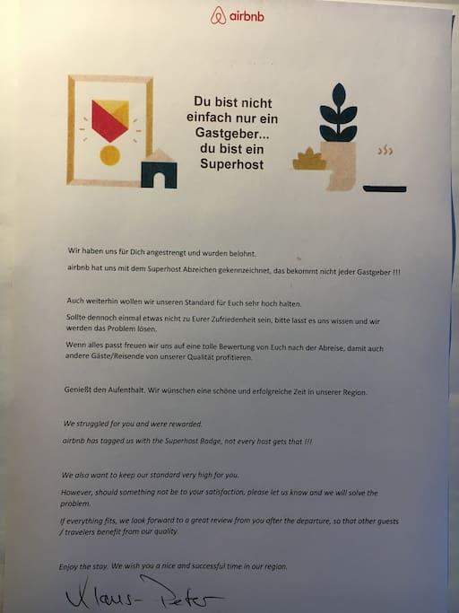 SUPER HOST Auszeichnung