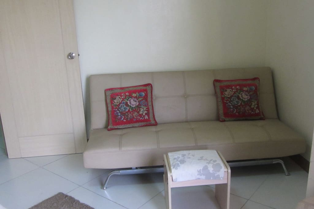 Sofa bed inside the bedroom