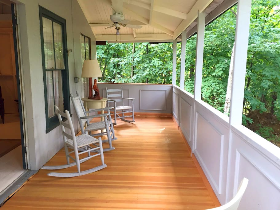 Front Porch- Brand new front porch now enclosed with screens