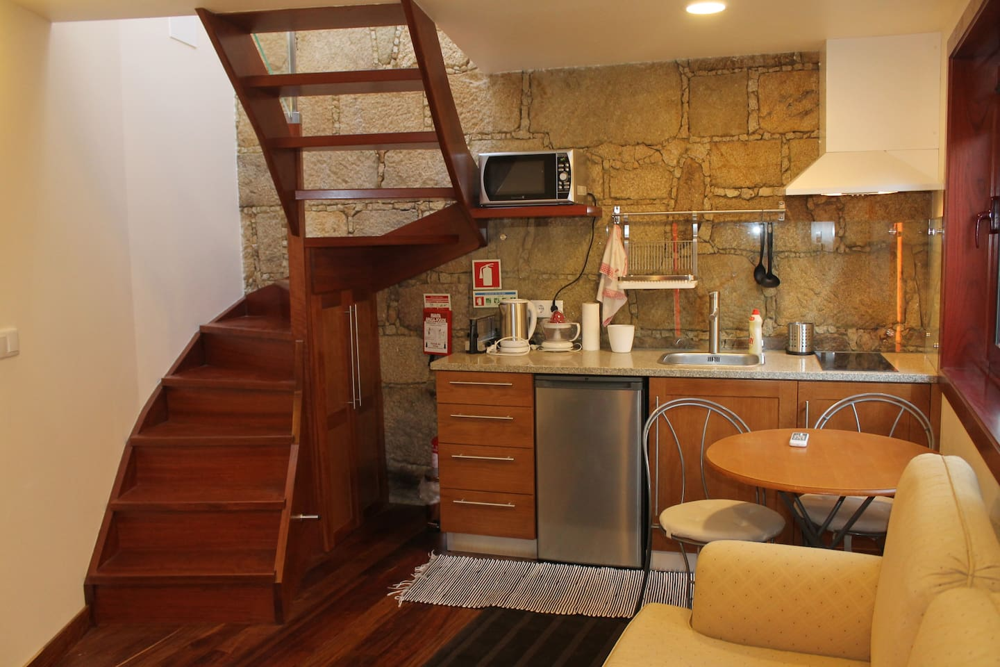 Kitchen and stairs to bedroom (upstairs)